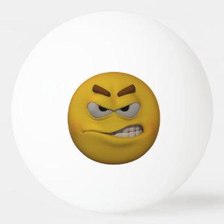 Balle De Ping Pong émoticône fâchée du style 3D