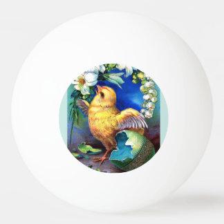 Balle De Ping Pong Falln un poussin heureux de Pâques