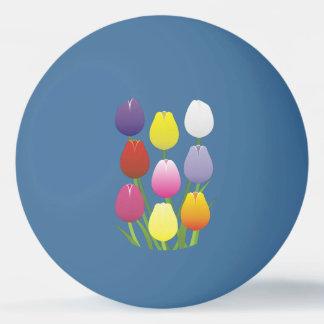 Balle De Ping Pong Fleur de tulipe