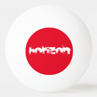 balle de ping pong horizon