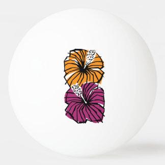 Balle De Ping Pong La ketmie tropicale fleurit la boule de ping-pong