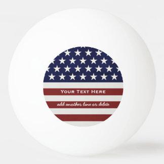 Balle De Ping Pong Les Etats-Unis drapeau américain coutume