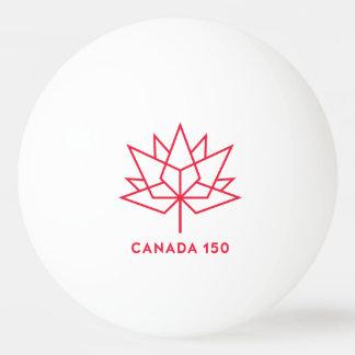 Balle De Ping Pong Logo de fonctionnaire du Canada 150 - contour