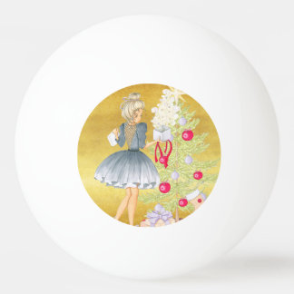 Balle De Ping Pong Magie de Noël - blonde décorant un arbre