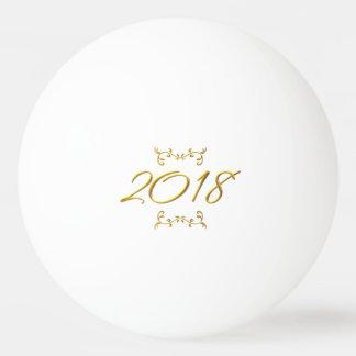 Balle De Ping Pong Modèle 2018 à trois dimensions d'or de boule de