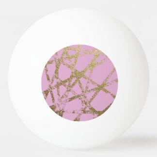 Balle De Ping Pong Moderne, abstrait, peint à la main, l'or raye,