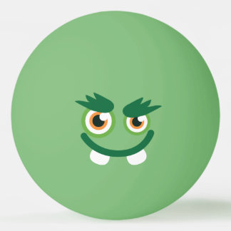 Balle De Ping Pong Monstre vert mignon drôle