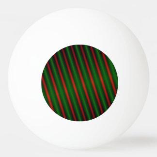 Balle De Ping Pong Rayures/lignes rouges et vertes motif