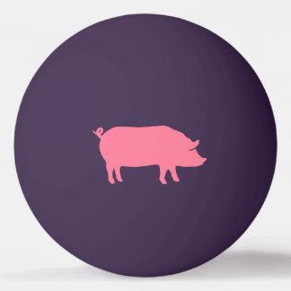Balle De Ping Pong Silhouettes roses de porc