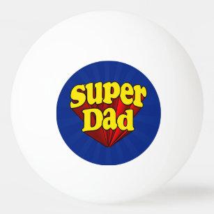 Balle De Ping Pong Super héros bleu jaune rouge de fête des pères de 3a3d95971fc