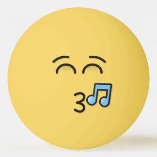 Balle De Ping Pong Visage siffleur avec les yeux de sourire