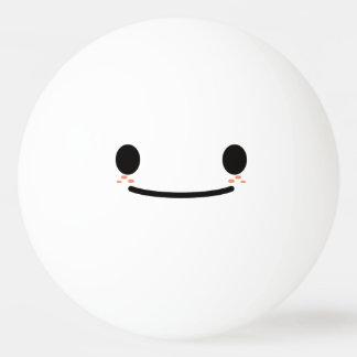 Balle De Ping Pong Visage souriant drôle mignon de Kawaii. Emoji.
