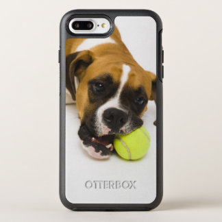 Balle de tennis acérée de chien coque otterbox symmetry pour iPhone 7 plus