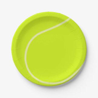 Balle de tennis assiettes en papier
