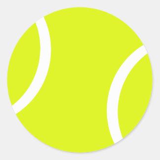 Balle de tennis sticker rond