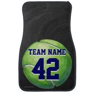 Balle de tennis avec le nom et le nombre d'équipe tapis de voiture