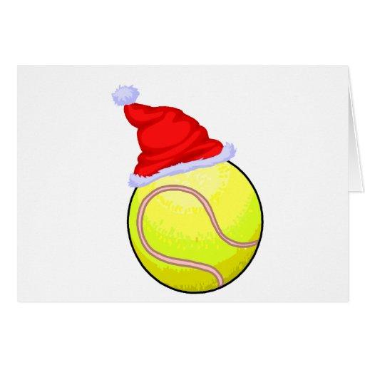 Balle de tennis (chapeau de Père Noël) Cartes