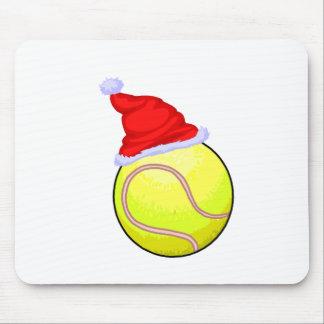 Balle de tennis (chapeau de Père Noël) Tapis De Souris