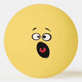 Balle de tennis drôle effrayée de Tableau de Balle De Ping Pong