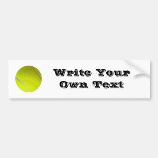 Balle de tennis - écrivez votre propre texte autocollant de voiture