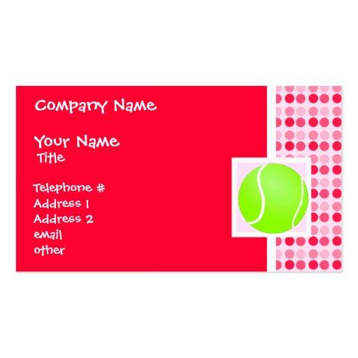 Balle de tennis mignonne modèles de cartes de visite