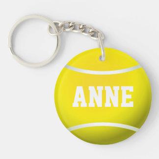 Balle de tennis porte-clé rond en acrylique double face