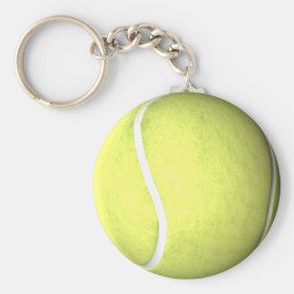 Balle de tennis porte-clé rond