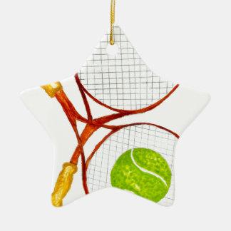 Balle de tennis Sketch2 Ornement Étoile En Céramique