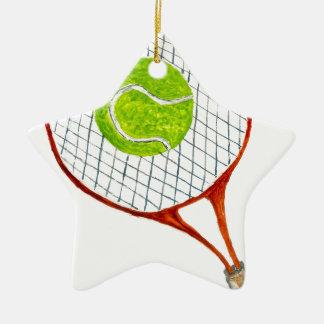 Balle de tennis Sketch3 Ornement Étoile En Céramique