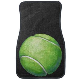 Balle de tennis tapis de voiture