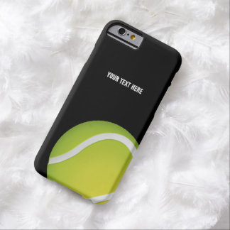 Balle de tennis verte personnalisée coque iPhone 6 barely there