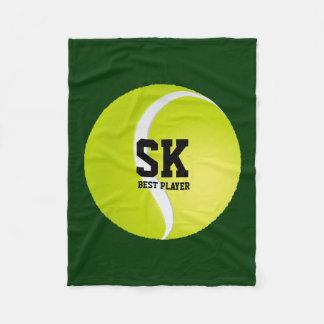 Balle de tennis verte personnalisée couverture polaire