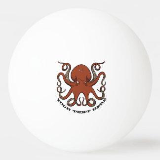 Balle Tennis De Table Bande dessinée rouge féroce de tentacules de