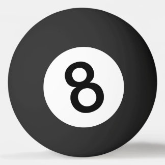 Balle Tennis De Table Boule 8 ou boule noire pour le ping-pong