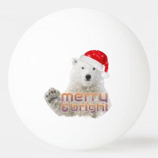Balle Tennis De Table Boule de ping-pong de Noël de l'ours blanc | Beary