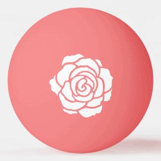 Balle Tennis De Table Boule de ping-pong de rose blanc