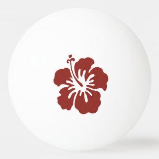 Balle Tennis De Table Boule de ping-pong tropicale de fleur de ketmie
