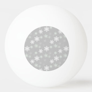 Balle Tennis De Table Bourrasques de neige blanches argentées de Noël