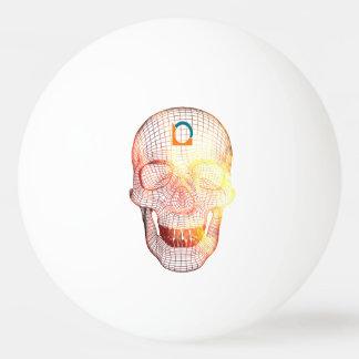 Balle Tennis De Table Crâne 3D colorié