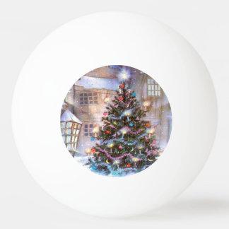 Balle Tennis De Table Cru d'arbre de Noël
