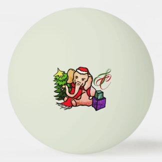 Balle Tennis De Table Éléphant rougeoyant de Père Noël de Noël de bande