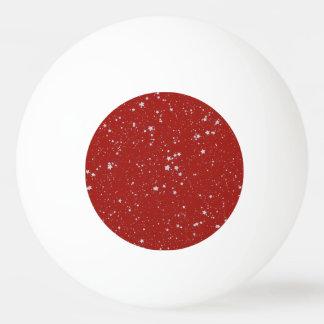 Balle Tennis De Table Étoiles de parties scintillantes - rouge argenté