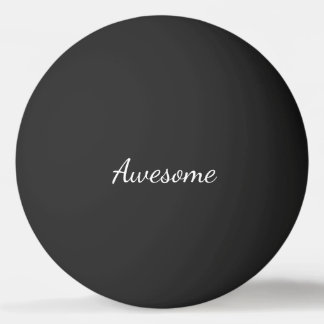 Balle Tennis De Table Impressionnant noir et blanc personnalisé