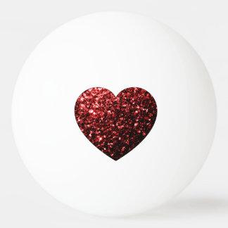 Balle Tennis De Table Le scintillement rouge de beau charme miroite