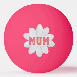 Balle Tennis De Table Lueur de la marguerite de la mère dans la boule de