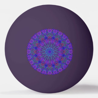 Balle Tennis De Table Ornement bleu-coloré Boho-Romantique de mandala