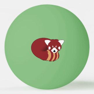 Balle Tennis De Table Panda rouge