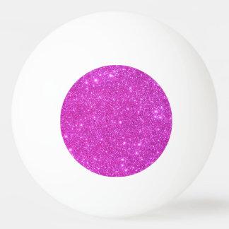 Balle Tennis De Table Ping-pong Girly scintillant rose de boule de