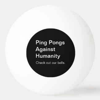 Balle Tennis De Table Puanteurs de cinglement contre la boule d'humanité