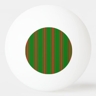 Balle Tennis De Table Rayure rouge et verte de Noël de lit